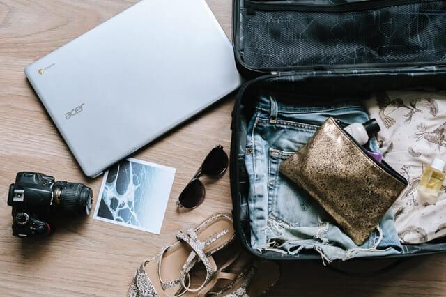 bagagem para viver viajando